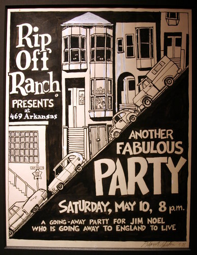 Gilbert Shelton SF Party Poster