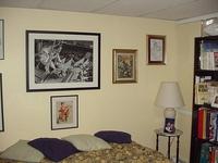 Some framed art  Earl Norem, George Tuska, Jim Mooney