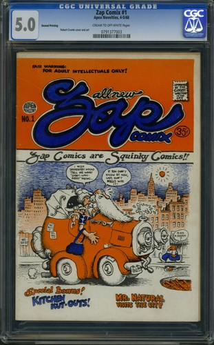 Zap Comix #1 - Second Printing