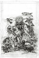 Mars Attacks ! Earl Norem original Pencils