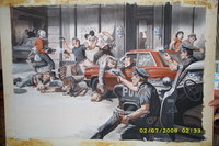 Mens Action cover 1960's Earl Norem Painting Beach  NYPD Cops n Robbers
